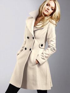 Victoria's Secret Wool Side Tab Coat  sale price $134.40