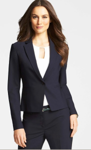 Ann Taylor Pinstripe Jacket $198 Signature Tropical Wool Pinstripe Trousers $129