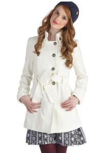 Out in the Open Air Coat in Ivory $64.99