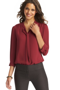 Loft Tie Neck 1/2 Sleeve Blouse $49.50