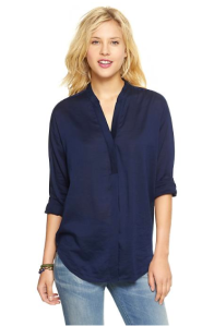 Gap Split-neck twill top $49.95