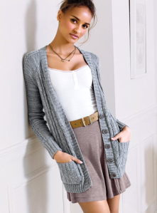 Victoria's Secret Slouchy Cable Cardi Sweater $49.50