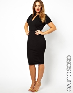 Asos Curve Exclusive Workwear Dress With Metal Bar $71.19