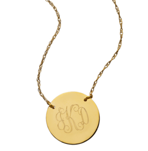 West Avenue Jewelry Monogram Disk Necklace $105
